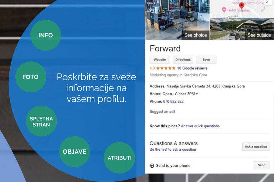 Podatki v profilu Google my Business